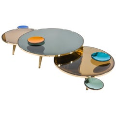 Riflesso Coffee Tables by form A-Set of Three