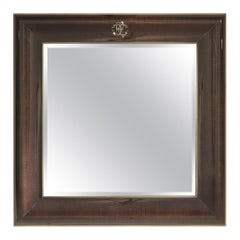 Riflesso.2 Small Natural Mirror with Metal Frame by Roberto Cavalli