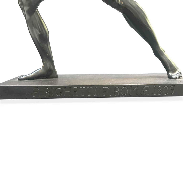 Righetti Francesco Borghese Gladiator Rome 1809 19th Century Grand Tour Statue For Sale 3