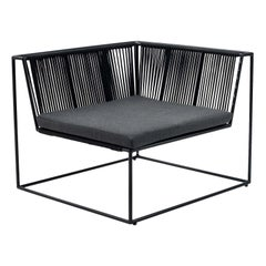Right Corner Black Armchair by Peter Ivone