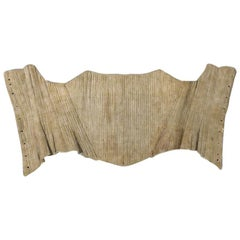 Rigid 18th Century Whale Boned Linen Bodice Circa 1730