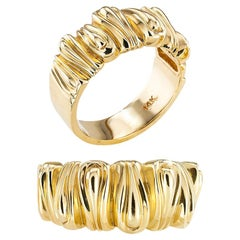 Rigoberto Protea Collection Twin Yellow Gold Bands