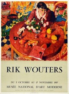 Original Vintage Art Exhibition Poster Rik Wouters National Museum Of Modern Art