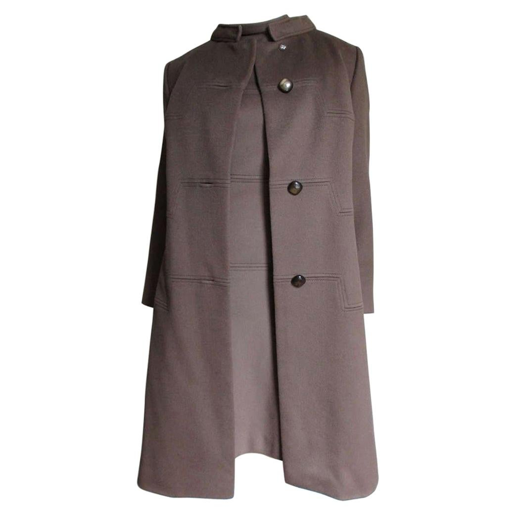 Rike's 1960s Cashmere Dress and Coat with Geometric Seams