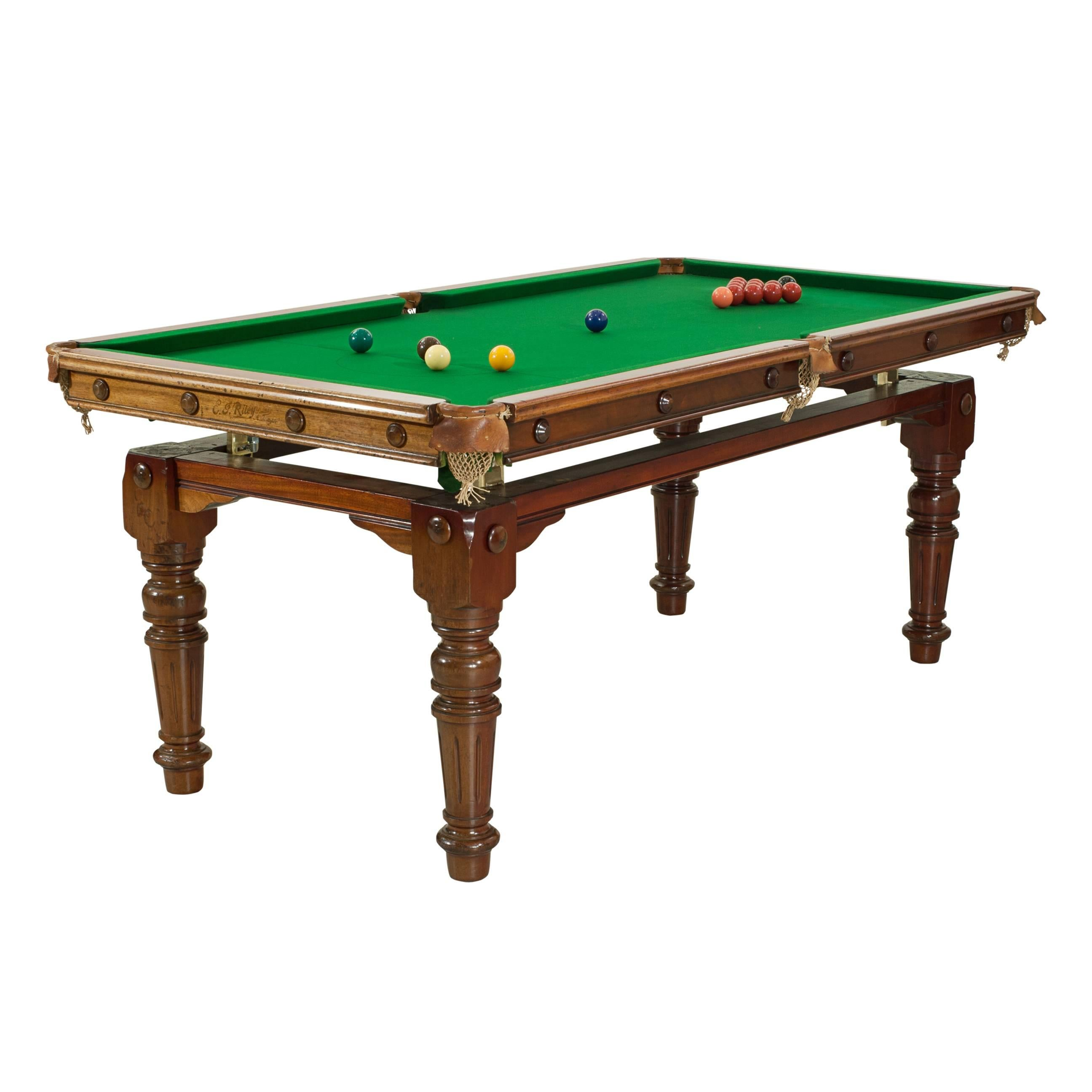Pool table that is a dining table Second Hand Riley Billiard Snooker Pool Dining Table For Sale Loria Awards Riley Billiard Snooker Pool Dining Table At 1stdibs