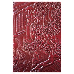 Rilie Oriental Red Decorative Panel