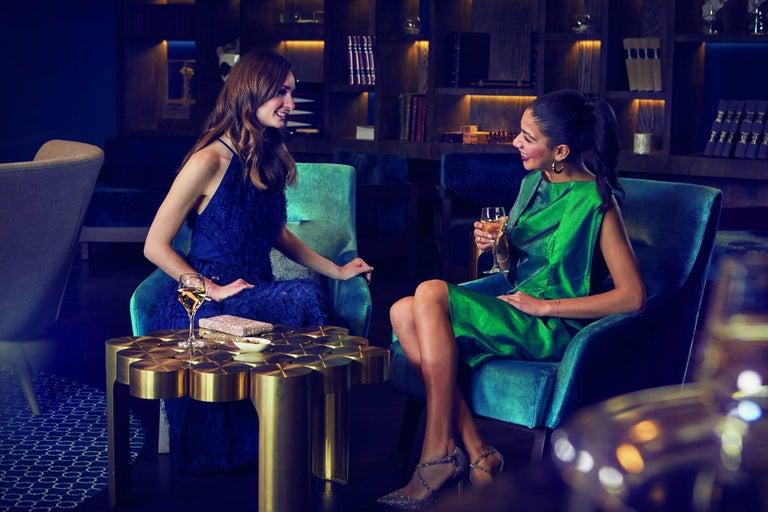 Portuguese Riluc, Mousse Coffee Table, Titanium Gold Designed in 2013 by Toni Grilo For Sale