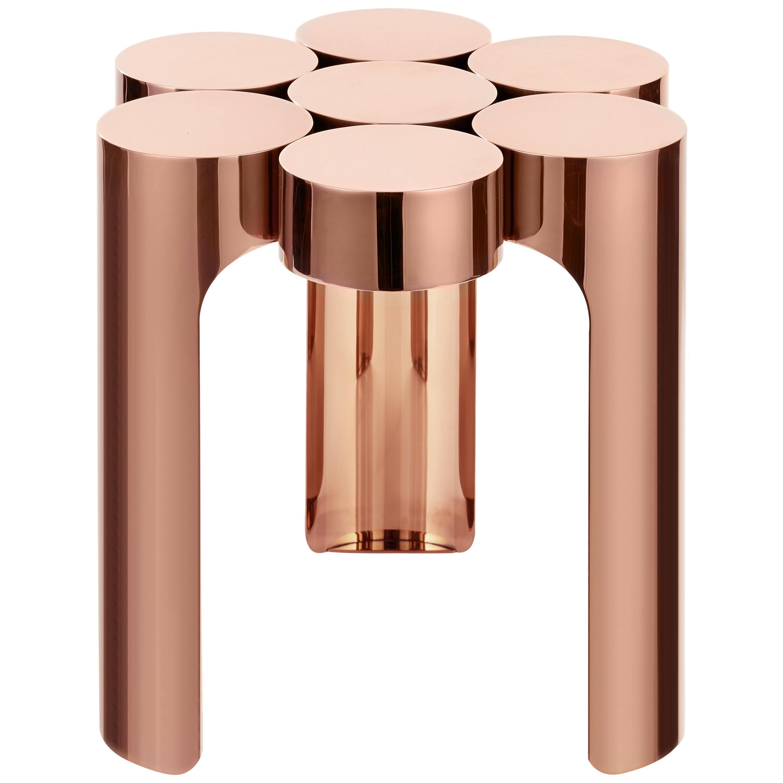 Riluc, Mousse Side Table, Titanium Copper Designed in 2013 by Toni Grilo