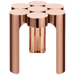 Riluc, Mousse Side Table, Titanium Copper Designed in 2013 by Toni Grilo