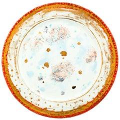 Platter Ø36cm Gold Hand Painted Coralla Maiuri Modern Plate New Tableware