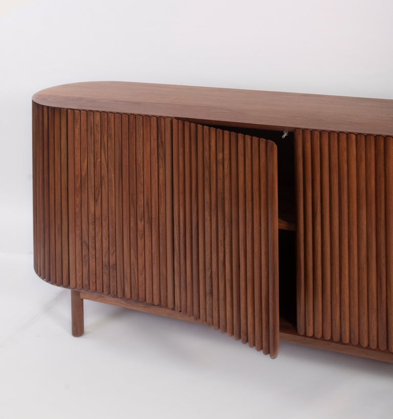 RIMA Credenza, 3M Solid Tzalam Wood For Sale 2
