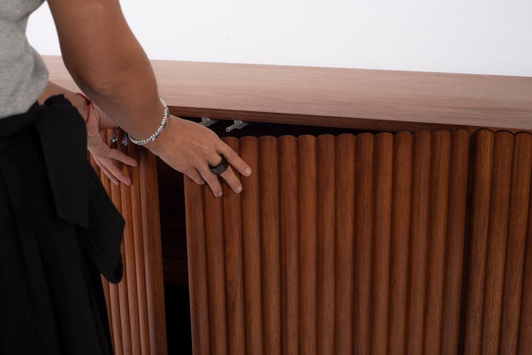 Minimalist RIMA Credenza, 3M Solid Tzalam Wood For Sale