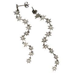 RIMA Jewels 18K White Gold Diamond Star Drops