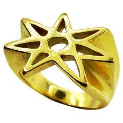 RIMA JEWELS 22k Gold Alchemical Seven Pointed Star Ring