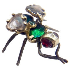 RIMA Jewels Memento Mori Diamond Slice Hyperrealist Fly Stud Earring