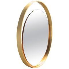 Rimadesio Sculptural Wall Mirror Golden Aluminum Italian Design 1960s Round