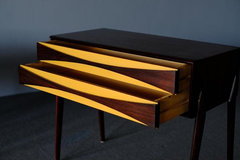 Mid-Century Modern Rimbert Sandholt, Nightstands in Rosewood For Sale