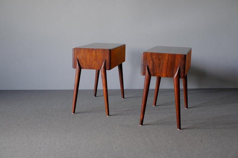 Swedish Rimbert Sandholt, Nightstands in Rosewood For Sale