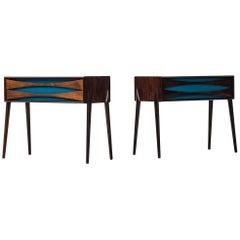 Rimbert Sandholt Side Tables by Glas & Trä Hovmantorp in Sweden