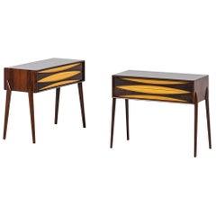 Rimbert Sandholt Side Tables in Rosewood by Glas & Trä Hovmantorp in Sweden