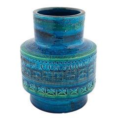 """""""Rimini Blu"""" Ceramic Vase by Aldo Londi for Bitossi, circa 1960s"""