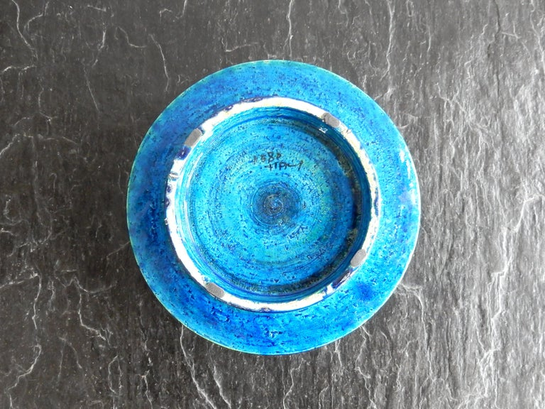 Italian 'Rimini Blu'series Ceramic Bowl by Aldo Londi Rimini for Bitossi, Italy, 1960s For Sale