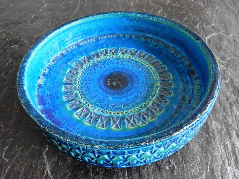 Mid-20th Century 'Rimini Blu'series Ceramic Bowl by Aldo Londi Rimini for Bitossi, Italy, 1960s For Sale