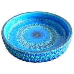 'Rimini Blu'series Ceramic Bowl by Aldo Londi Rimini for Bitossi, Italy, 1960s