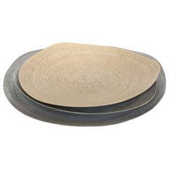 Rina Menardi Handmade Ceramic Crackled Triangular Platters