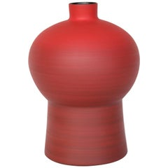 Rina Menardi Handmade Ceramic Royal Queen Red Vase