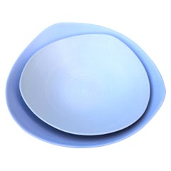 Rina Menardi Triangular Handmade Ceramic Soup Plate and Bowl