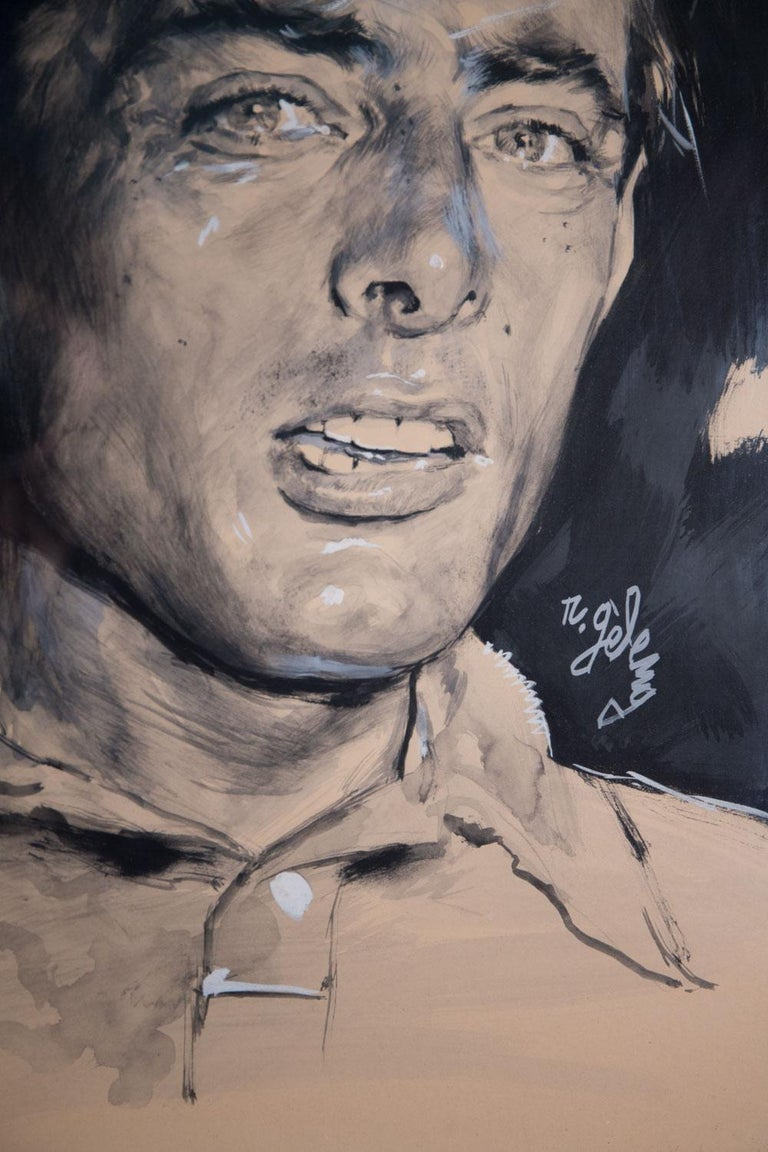 Rinaldo Geleng Signed Italian Portrait In Good Condition For Sale In Paris, FR