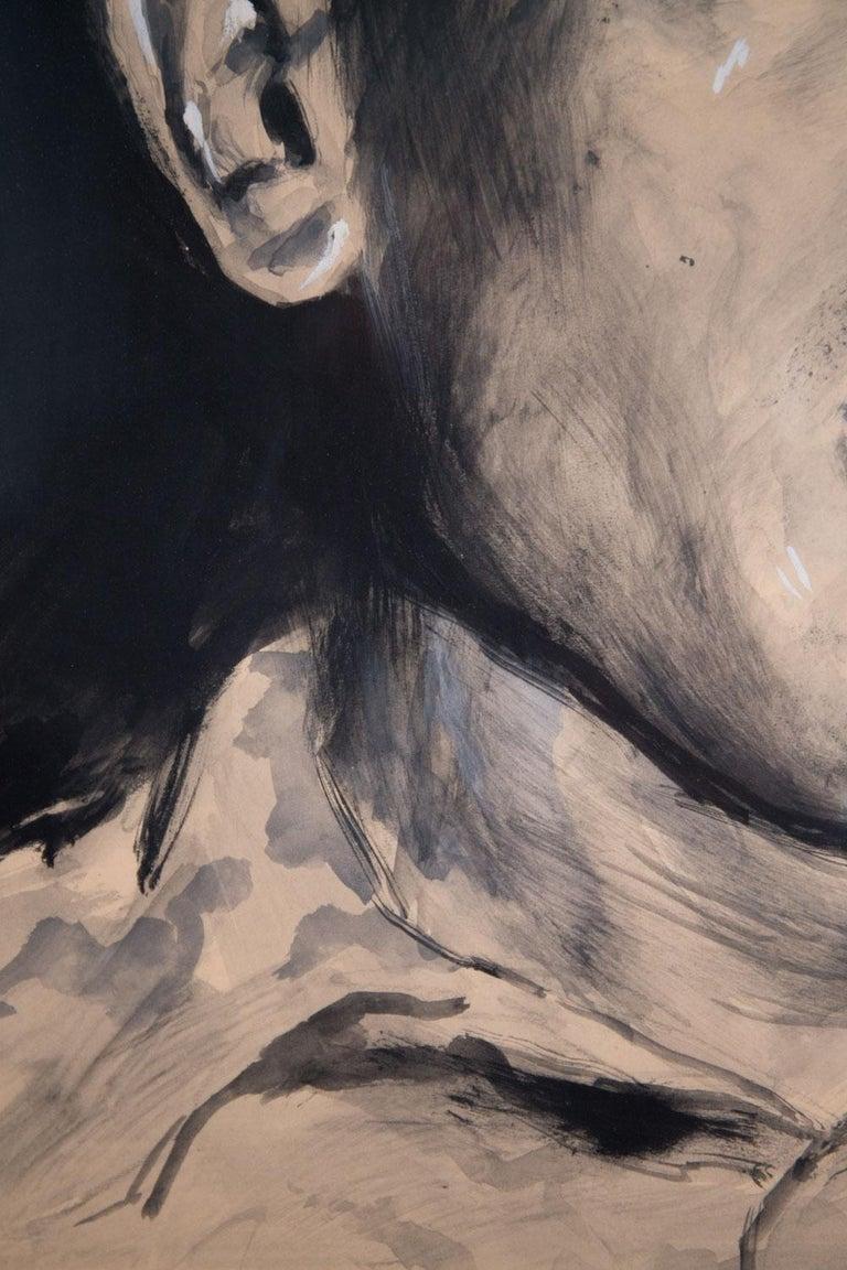 Mid-20th Century Rinaldo Geleng Signed Italian Portrait For Sale