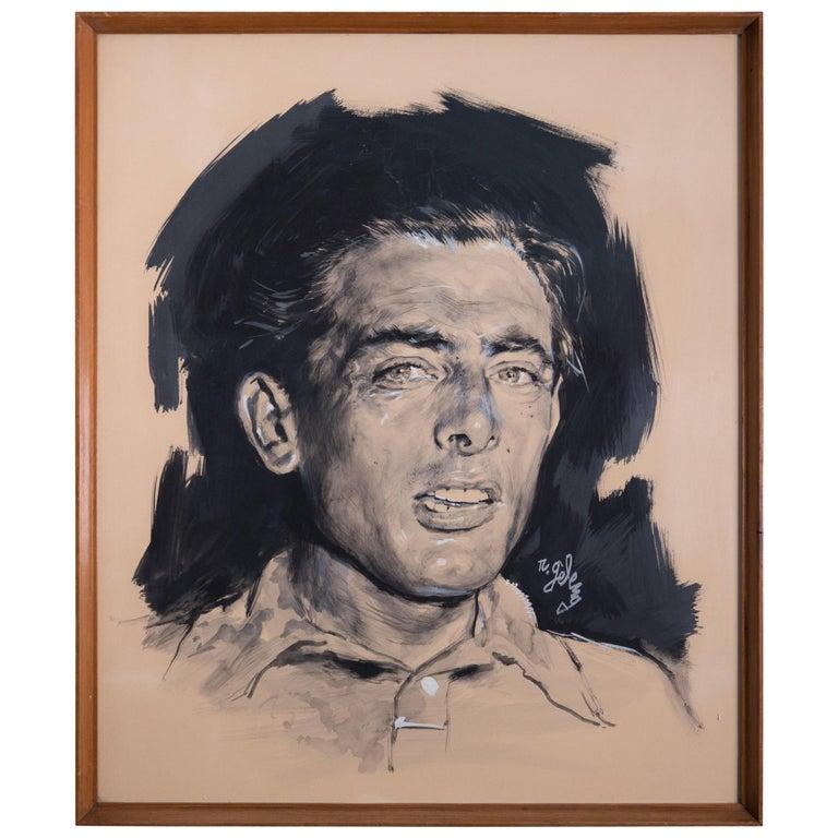 Rinaldo Geleng Signed Italian Portrait For Sale