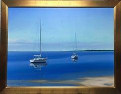Bay View, original 36X48 contemporary photorealistic marine landscape