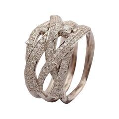 Ring, 18 Carat Gold, Diamond Ring, 0.93 Carat, Unique Piece, Handmade