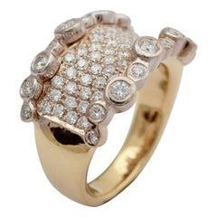 Ring, 18 Carat Gold, Diamond Ring, Handmade, Unique Piece, Peter De Maere