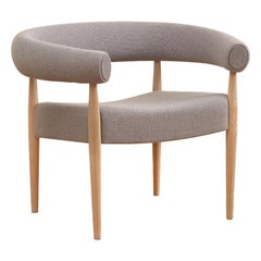 Ring Chair, Nanna & Jorgen Ditzel, Fabric, Lacquered Oak