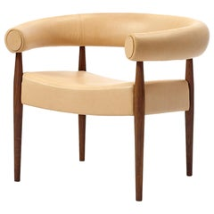 Ring Chair, Nanna & Jorgen Ditzel, Leather, Oiled Oak