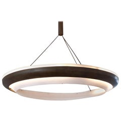 Ring, Chandelier, Chemical Blackened Iron, Thermoformed Polycarbonate