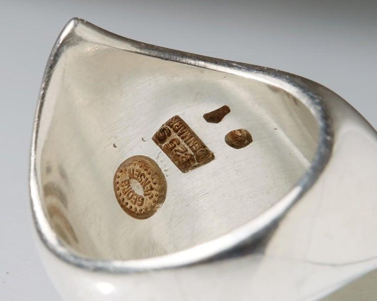 Women's or Men's Ring Designed by Nanna Ditzel for Georg Jensen, Denmark, 1960s For Sale