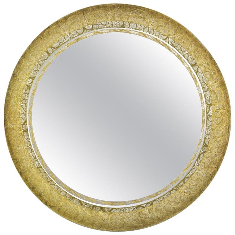 Ring Filigree Round Mirror For Sale