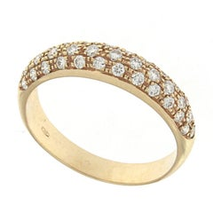 """Ring from the Collection """"Essence"""" 18 Karat Pink Gold and Diamonds"""