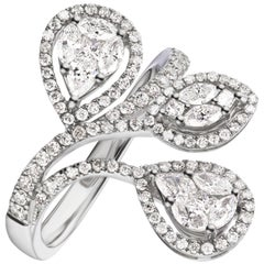 Ring in 18K White Gold with Diamond