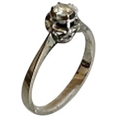Ring in White Gold with Brilliant 18 Karat
