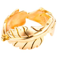 Ring Leaf Shaped in Red Gold 18 Karat