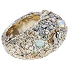"Ring ""Moonshine"" by Bibi van der Velden Diamond Aquamarine Saphire Opal Pearl"