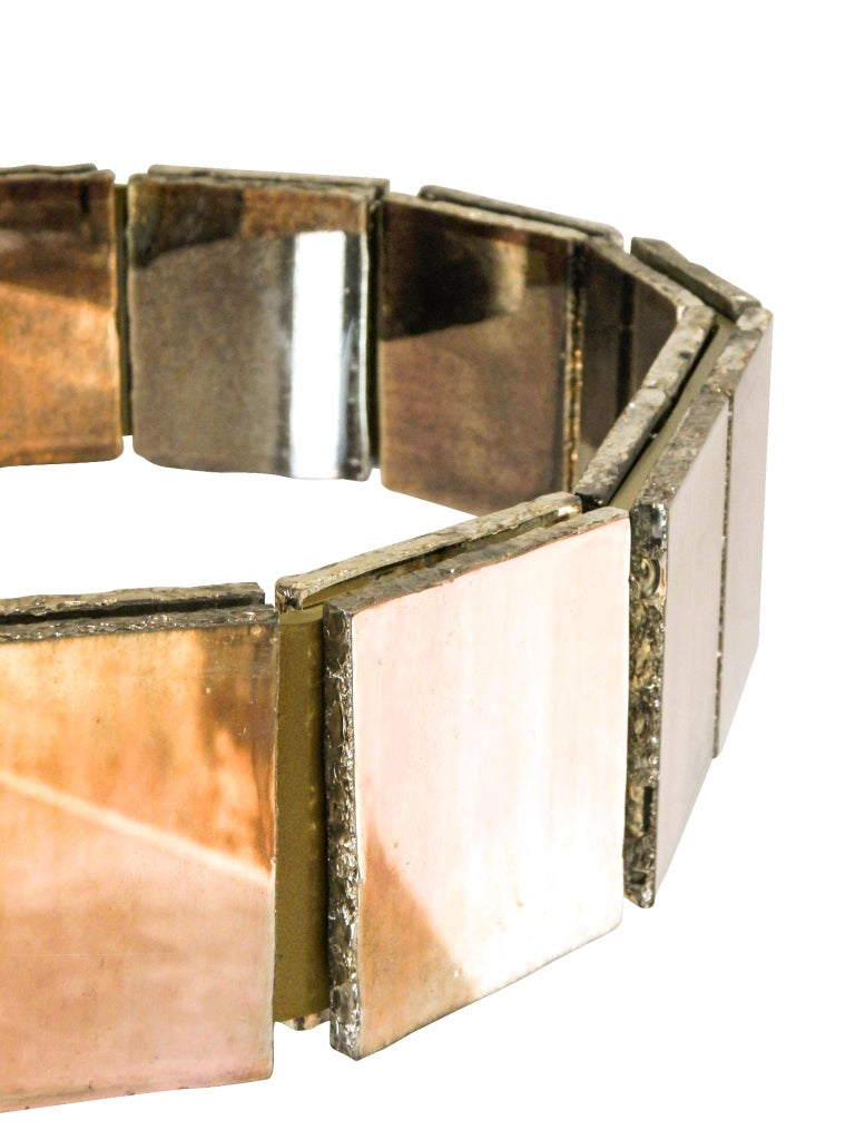 Art Glass Ring contemporary  Wall Sconce Silvered Glass handmade in tuscany italy For Sale