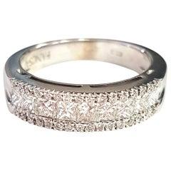 Ring with White Diamonds in 18 Karat White Gold