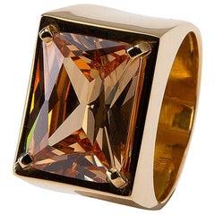 Ring Yellow Sapphire 18 Karat Gold